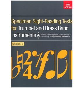 Specimen Sight-Reading Tests Trumpet Graded Books ABRSM