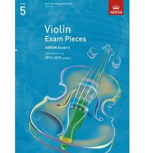 ABRSM Violin Exam Pieces 2012-2015 Part Only Grade 5 - SALE