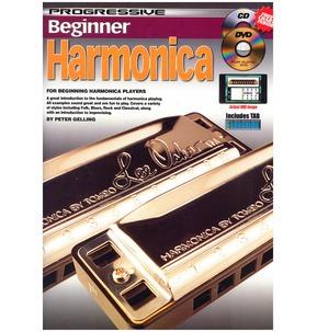 Progressive Beginner Harmonica - Book/CD/DVD/Free Chart