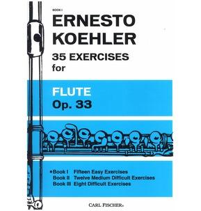 Koehler - 35 Exercises for Flute Studies Opus 33