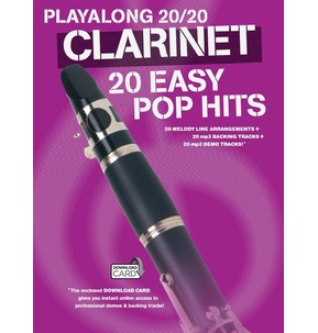 Playalong 20/20 Clarinet: 20 Easy Pop Hits (Book/Download Card)