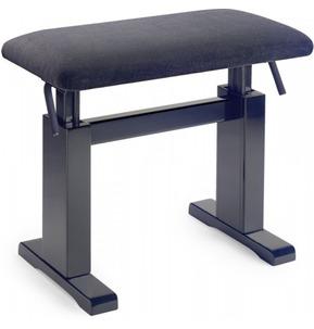 Stagg PBH780 Hydro Adjustable Piano Stool - Rosewood Matt With Black Velvet Top