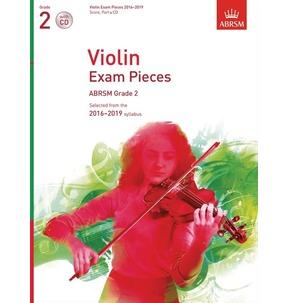 ABRSM: Violin Exam Pieces 2016-2019 Score/Part & CD Grade 2 - SALE