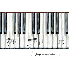 Little Snoring Gifts: 7x5 Greetings Card Piano Keys Design