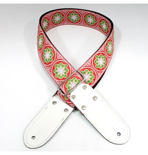 DSL JAC20-FLOWER-GREEN Jacquard Weaving Guitar Strap