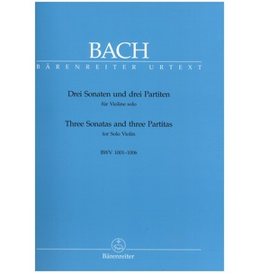 Bach - 3 Sonatas and 3 Partitas for Violin - Classical (Barenreiter)