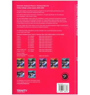 Trinity Electronic Keyboard Exam Pieces 2015-18 - Initial - SALE