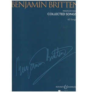 Benjamin Britten: Collected Songs [Paperback]