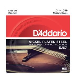 D'Addario EJ67 Nickel Mandolin Strings, Medium, 11-39