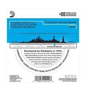 D'Addario EJ16 Phosphor Bronze, Light, 12-53 Acoustic Strings