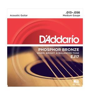 D'Addario EJ17 Phosphor Bronze Acoustic Guitar Strings, Medium, 13-56