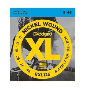 D'Addario EXL125 Nickel Wound Electric Guitar Strings, Super Light / Regular, 9-46