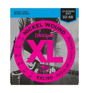 D'Addario EXL150 Nickel Wound 12-String Electric Guitar Strings, Regular Light, 10-46