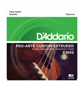 D'Addario EJ65S Pro-Arte Custom Extruded Ukulele, Soprano Ukulele Strings