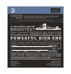 D'Addario EPS170 ProSteels Bass, Light, 45-100, Long Scale Bass Strings