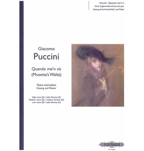 Puccinii: Quand m'en vo (Musetta's Waltz Song) from La Boheme (Piano/Vocal)