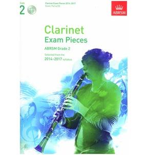 Clarinet Exam Pieces Score/Part/CD 2014-2017 ABRSM Grade 2