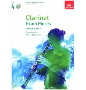 Clarinet Exam Pieces Score/Part/CD 2014-2017 ABRSM Grade 4
