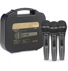 Stagg SDMP15-3 Set of 3 Cardioid Dynamic Microphones