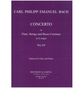 Bach Concerto in G major Wq 169 Edition for Flute & Piano