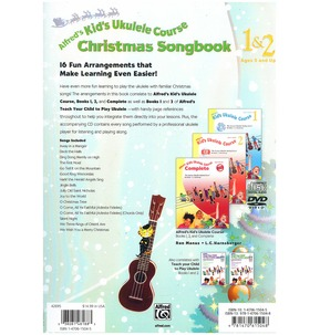 Alfred's Kid's Ukulele Course Christmas Songbook 1 & 2