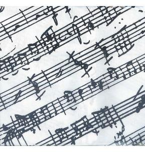 Manuscript Tea Towel (White/Black)