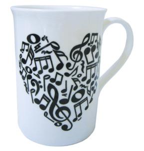 Heart of Notes Bone China Mug