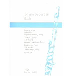 Bach Sonata G Minor BWV 1020 Flute/Piano (Barenreiter)