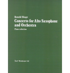 Concerto for Alto Saxophone & Piano Reduction