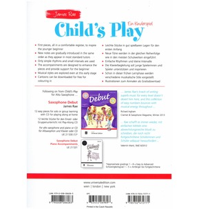 Child's Play for Alto Saxophone & Piano by James Rae