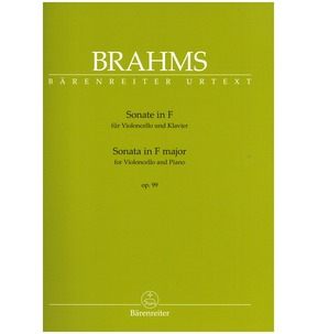 Brahms: Sonata in F for Cello & Piano Op. 99 (Barenreiter Edition)