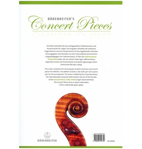 Barenreiter's Concert Pieces: The Boy Paganini for Violin & Piano