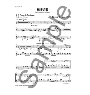 Edward Gregson: Tributes (Clarinet/Piano)