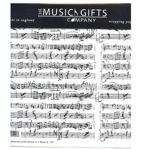 Mozart Manuscript Gift Wrap Pack (White)