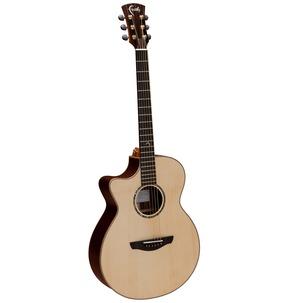 Faith HiGloss FVHGL Venus OM Natural Left-Handed All Solid Electro Acoustic Guitar & Case