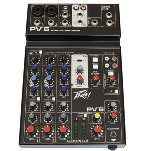 Peavey PV 6 - 6 Input Stereo Mixer