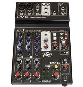 Peavey PV 6 - 6 Input Stereo Mixer