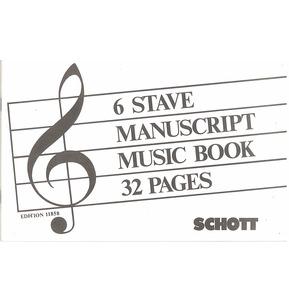 REDUCED Manuscript Music Book 6 Stave