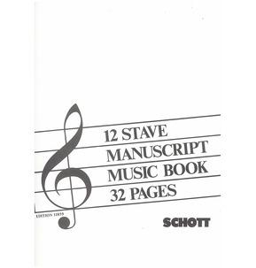 REDUCED Manuscript Music Book 12 Stave