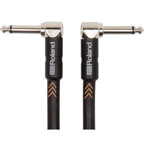 Roland RIC-B3AA  Black Series instrument cable 3ft/1m - right-angle 1/4-inch connectors