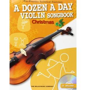 A Dozen A Day Violin Songbook: Christmas (Book/CD)