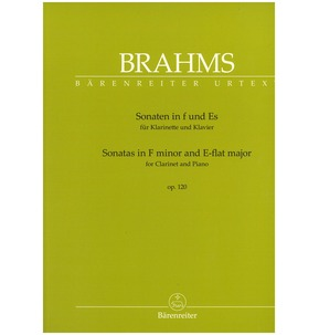 Sonatas in F minor and E-flat major for Clarinet and Piano op. 120