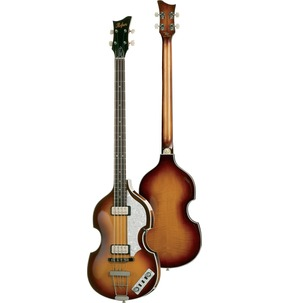 Hofner HCT Violin Bass Guitar In Sunburst - Left-Handed