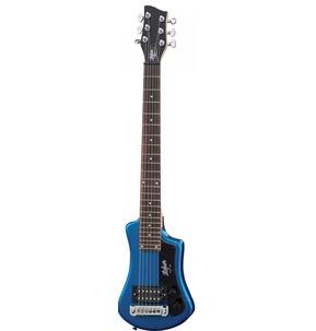 Hofner Shorty Blue Travel Electric Guitar