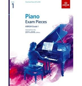 ABRSM Piano Exam Pieces: 2017-2018 (Grade 1) - Book Only