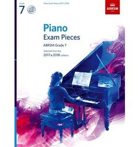 ABRSM Piano Exam Pieces: 2017-2018 (Grade 7) - Book And CD