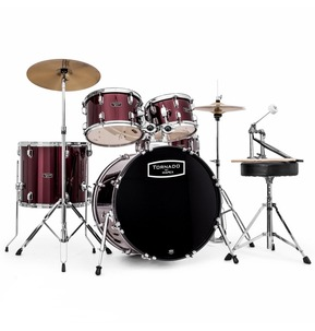 Mapex Tornado 22 Inch Rock Fusion Drum Kit - Burgundy Red