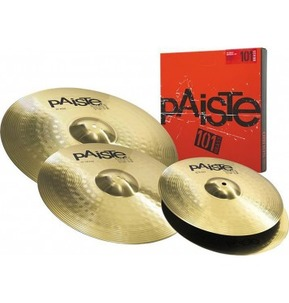 Paiste 101 Cymbal Set. 14 Inch Hi-Hats, 16 Inch Crash, 20 Inch Ride
