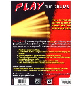 Play the Drums Book and CD
