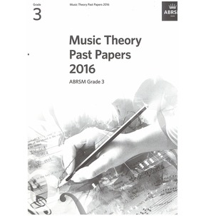 Music Theory Past Papers 2016, ABRSM Grade 3 - Sale